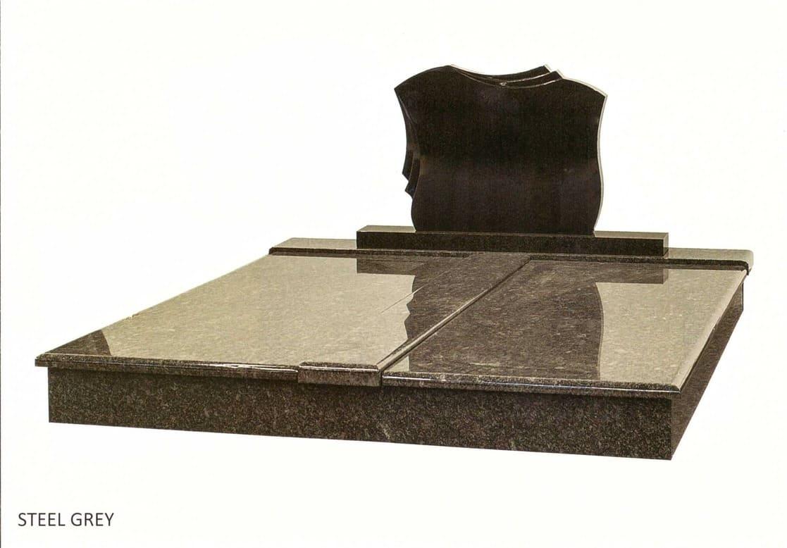 Dvojhrob Steel Grey