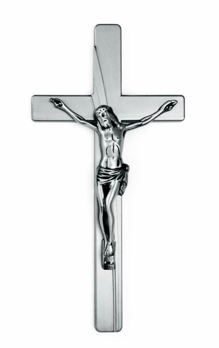 K51-4-27aN Kríž Kamelia s Jezižom strieborný