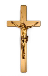 K51-5-27aN Kríž Kamelia s Ježišom bronz