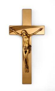K52-5-25aN Kríž Serena s Ježišom zlatý