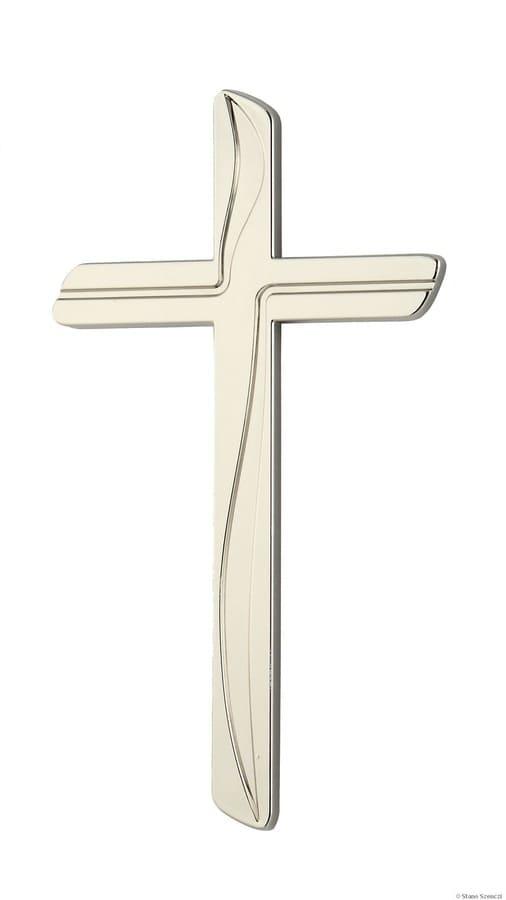 K50-0-28aN Náhrobné doplnky Verbena - kríž biely