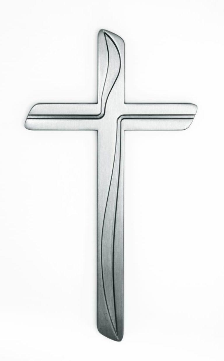 K50-4-28N Náhrobné doplnky Verbena - kríž strieborný