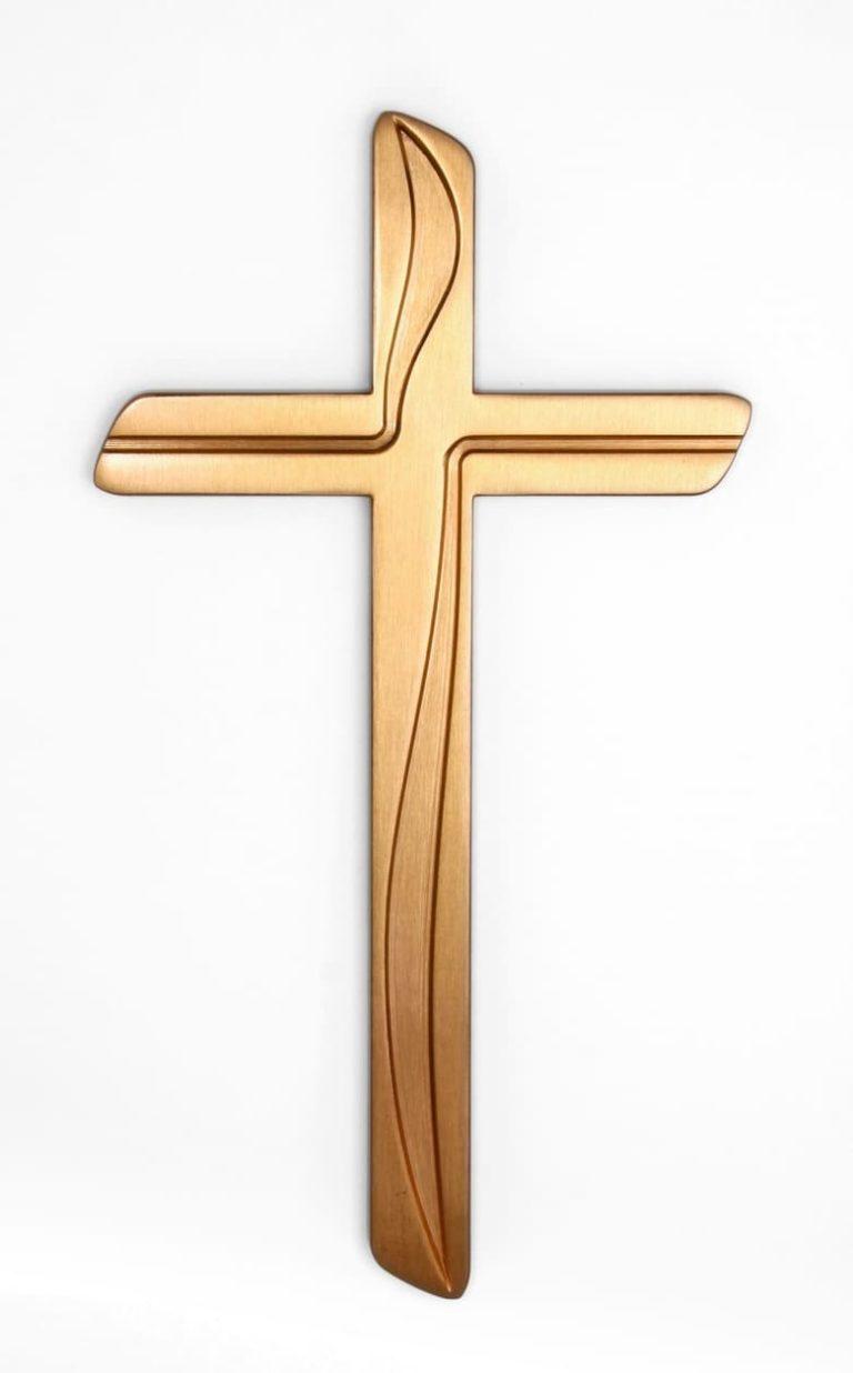 K50-5-28N Náhrobné doplnky Verbena - kríž zlatý