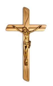 K50-5-28aN Náhrobné doplnky Verbena - kríž s Ježišom zlatý